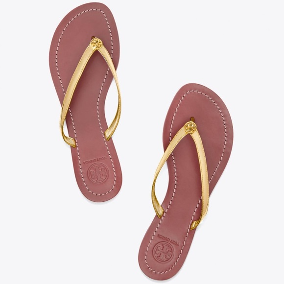 39ad3354131 NWT Tory Burch Terra thong sandals in Spark Gold